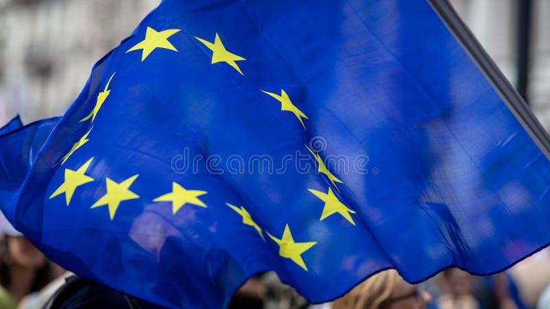 Europejska zrzeszeniowa flaga zdjęcia royalty free
