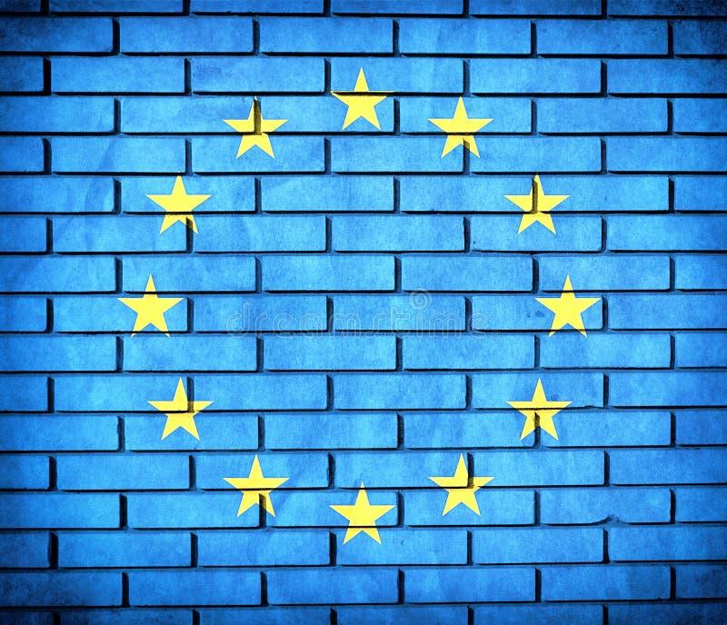Europejska Zrzeszeniowa flaga royalty ilustracja