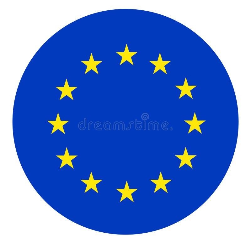 Europejska zrzeszeniowa flaga ilustracja wektor