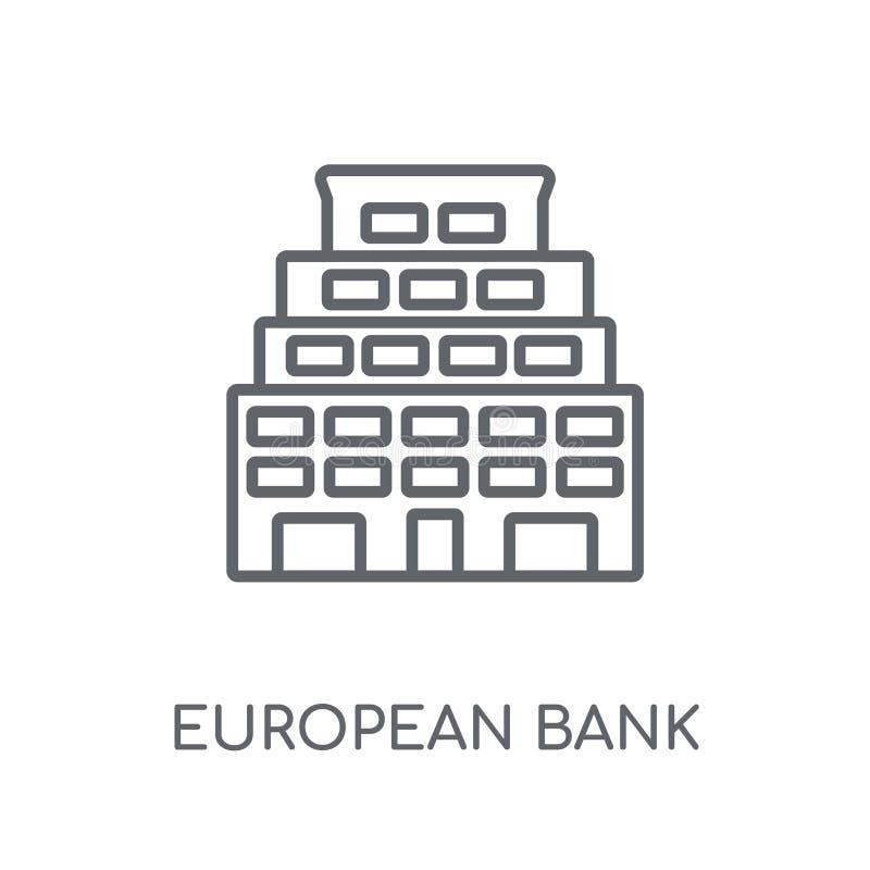 Europejski bank dla odbudowy i rozwoju liniowej ikony Mo ilustracja wektor
