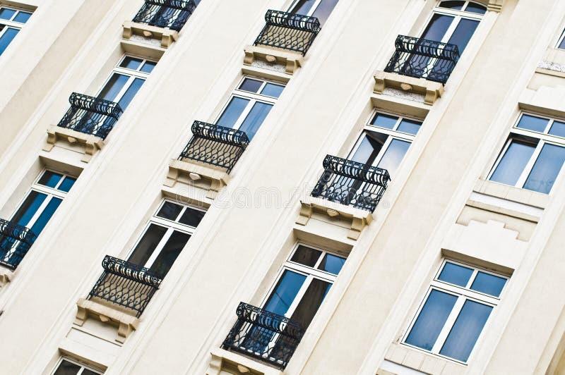 europejski fasadowy hotel zdjęcie stock
