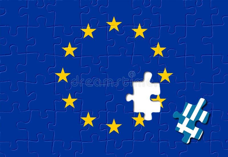 europejski Greece opuszczać zjednoczenie ilustracji