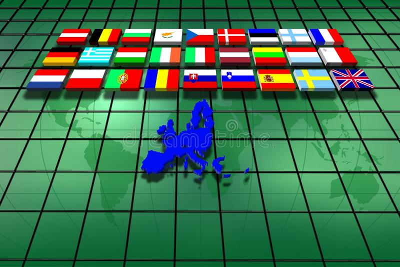 europejski kraju zjednoczenie ilustracja wektor