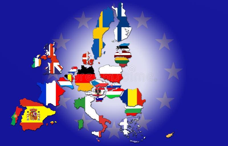 europejski kraju zjednoczenie ilustracji