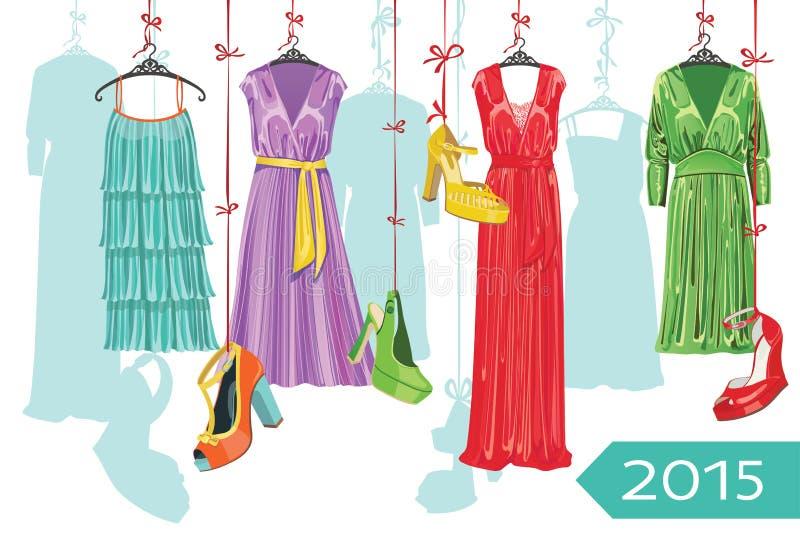 Europejski moda kalendarz 2015 rok ilustracja wektor