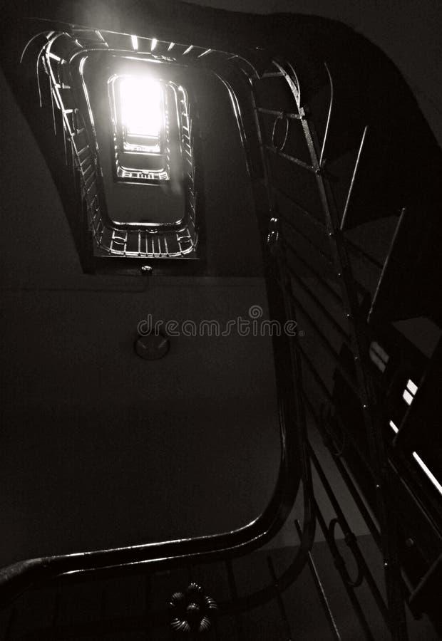 Europejski schody w ranku słońcu obrazy stock