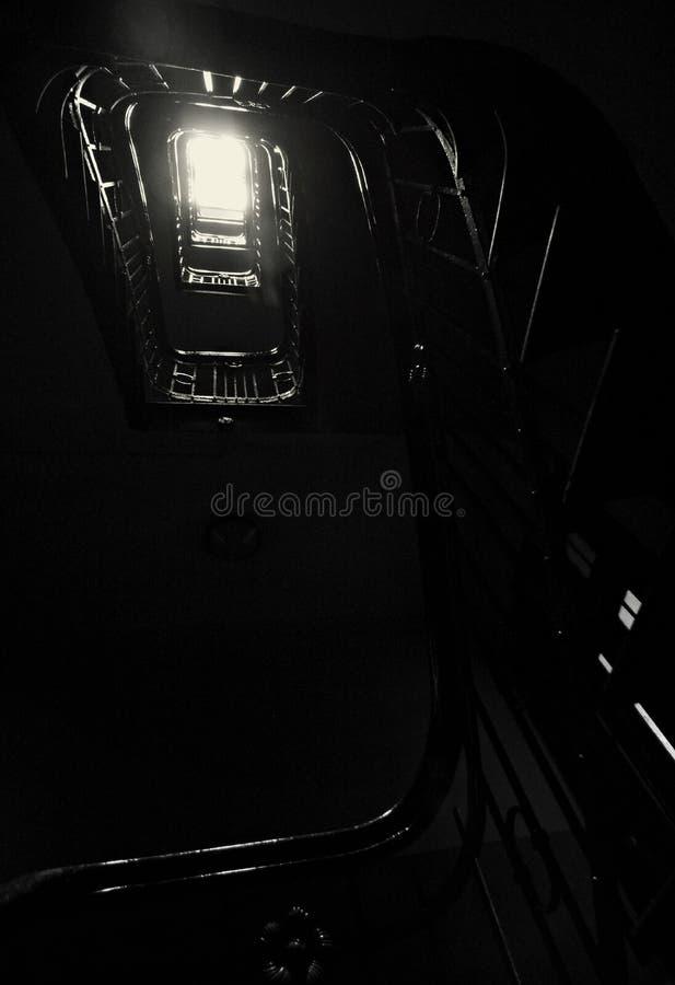 Europejski schody w ranku słońcu fotografia royalty free