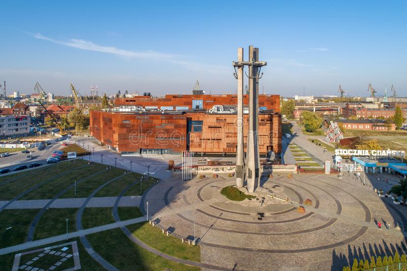 Europejski solidarności centrum w Gdańskim, Polska zdjęcie stock