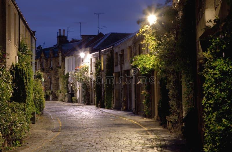 europejski stary uliczny miasteczko obraz royalty free