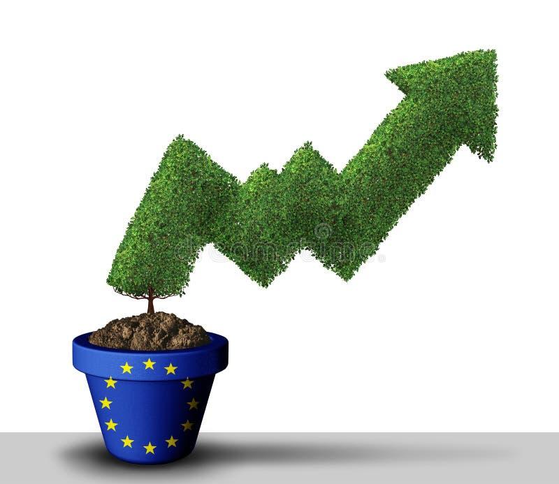 Europejski zapasu wzrost royalty ilustracja