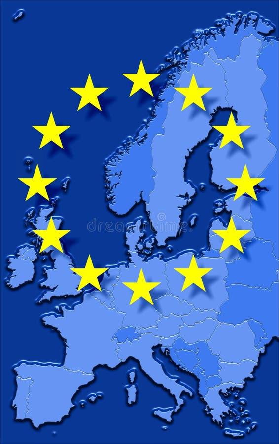 europejski zjednoczenie royalty ilustracja