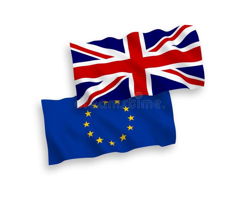 Europejski zjednoczenie i Wielkie Brytania flaga royalty ilustracja