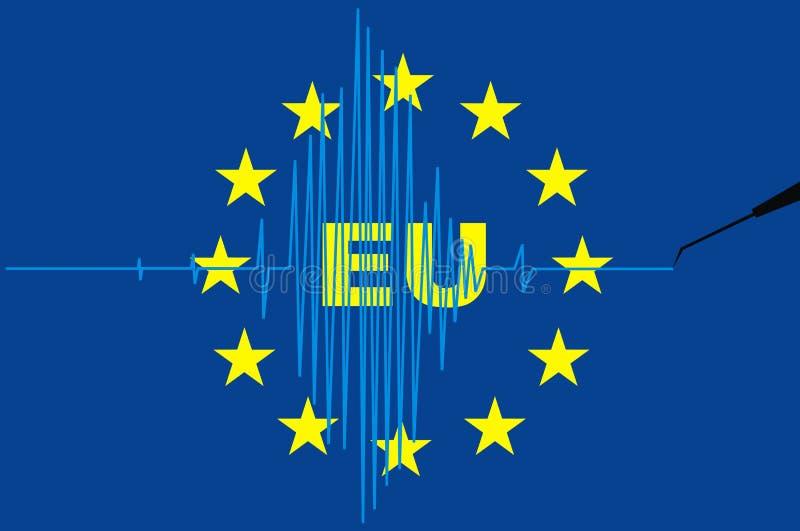 Europejski zjednoczenie jako kryzysu symbol royalty ilustracja