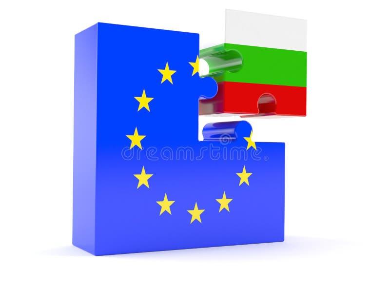 Europejski zjednoczenie z Bułgaria ilustracja wektor