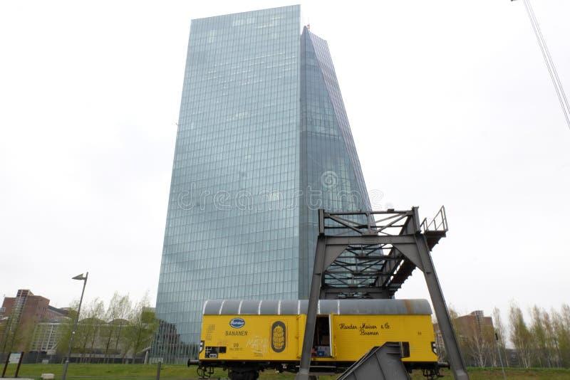 Europejskiego Banka Centralnego ECB w Frankfurt zdjęcie royalty free