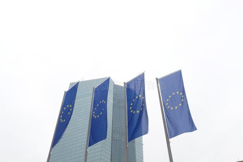 Europejskiego Banka Centralnego ECB w Frankfurt zdjęcia stock