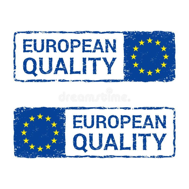 Europejskiego zjednoczenia ilość, UE wektorowy listowy znaczek royalty ilustracja