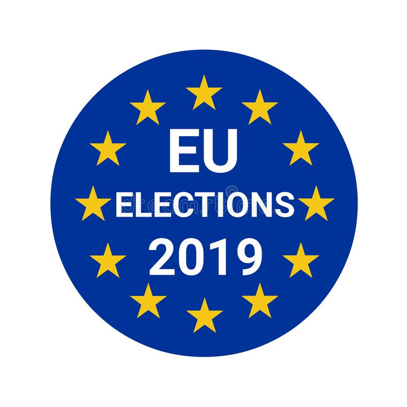 Europejskiego zjednoczenia wybory 2019 royalty ilustracja