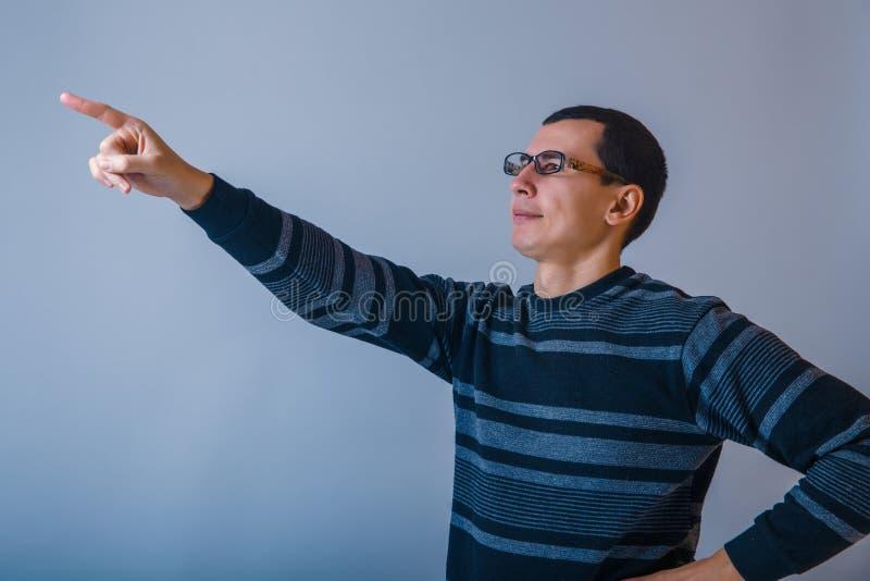 Europeo-mirando al varón de cerca de treinta puntos de a fotografía de archivo
