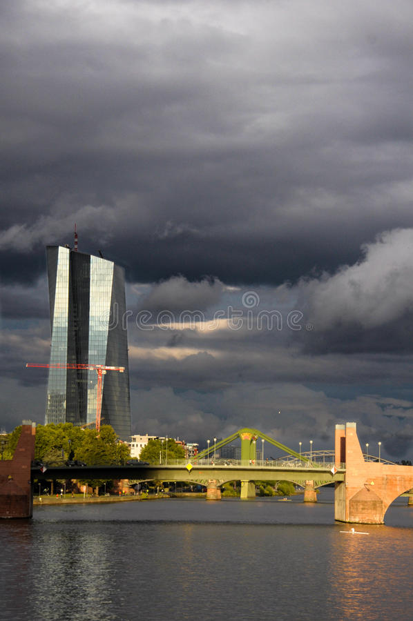 Europese Centrale Bank royalty-vrije stock foto's