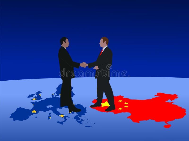 Europese Chinese vergadering vector illustratie