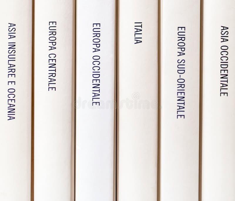 Europese die aardrijkskunde op een boek wordt geschreven royalty-vrije stock foto