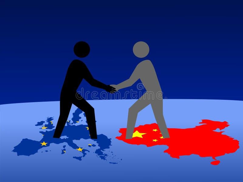 Europese en Chinese vergadering vector illustratie