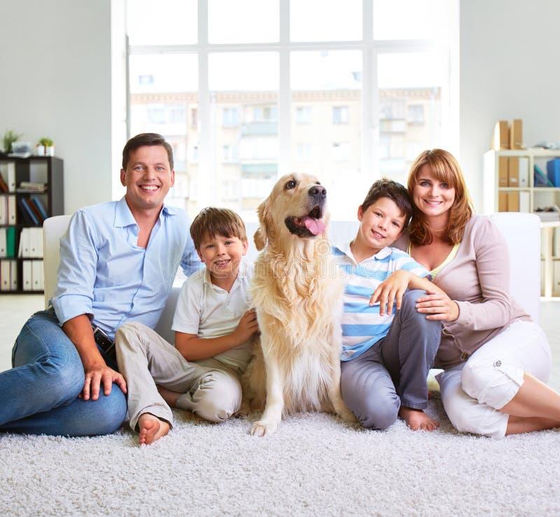 Europese familie royalty-vrije stock fotografie