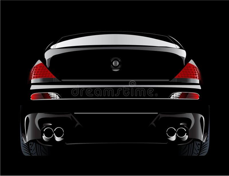 Europese gewijzigde BMWm6 sportwagen in zwarte stock illustratie