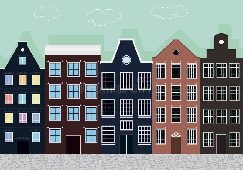 Europese huizen vector illustratie