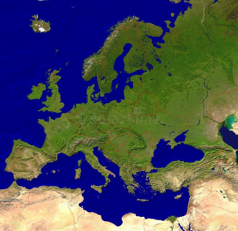 Europese kaart royalty-vrije stock afbeeldingen