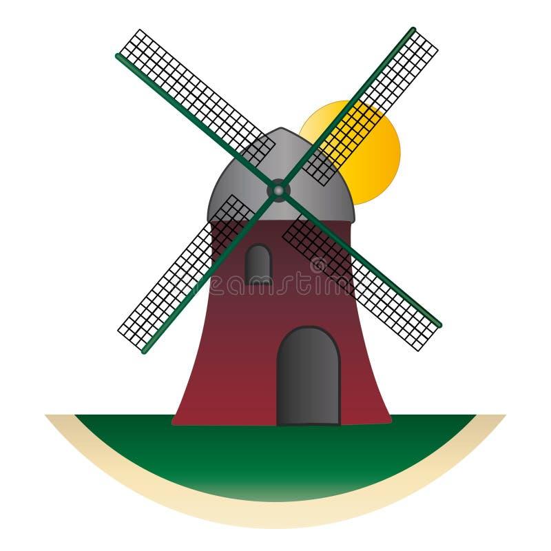 Europese molen - voor embleem royalty-vrije stock foto's