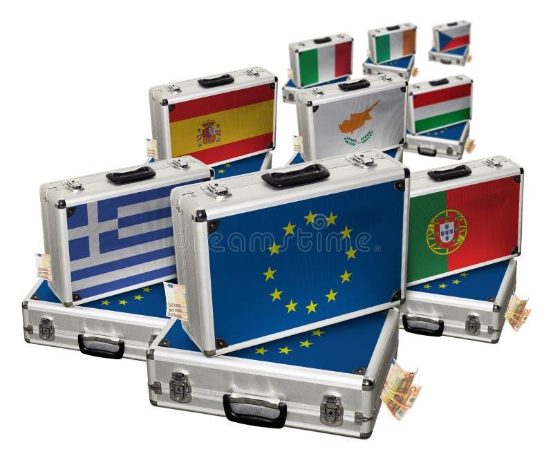 Europese monetaire crisis stock afbeelding