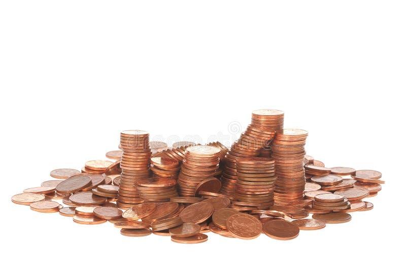 Europese muntstukken stock afbeelding