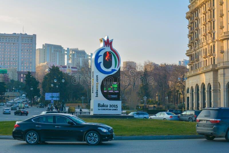 Europese spelen 2015, Baku Azerbaijan stock afbeelding