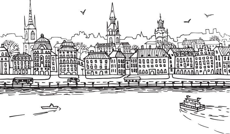 Europese stad 1 royalty-vrije stock fotografie