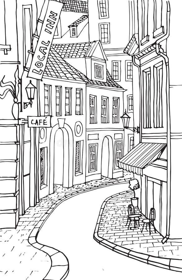 Europese stad 2 stock afbeelding