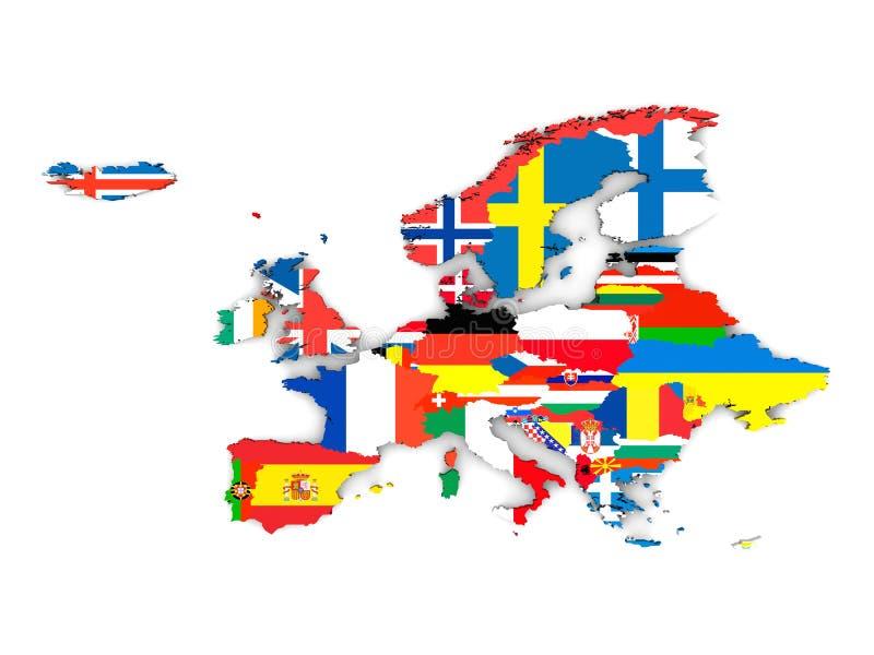 Europese staten royalty-vrije illustratie