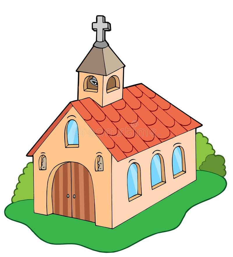 Europese stijlkerk vector illustratie