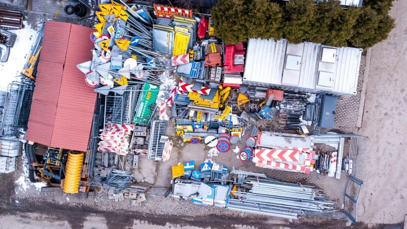 Europese verkeerstekeninzameling Tekens van gevaar Verplichte tekens Tekens van verplichtingen Tekens van alarm Supplementaire li royalty-vrije stock foto's