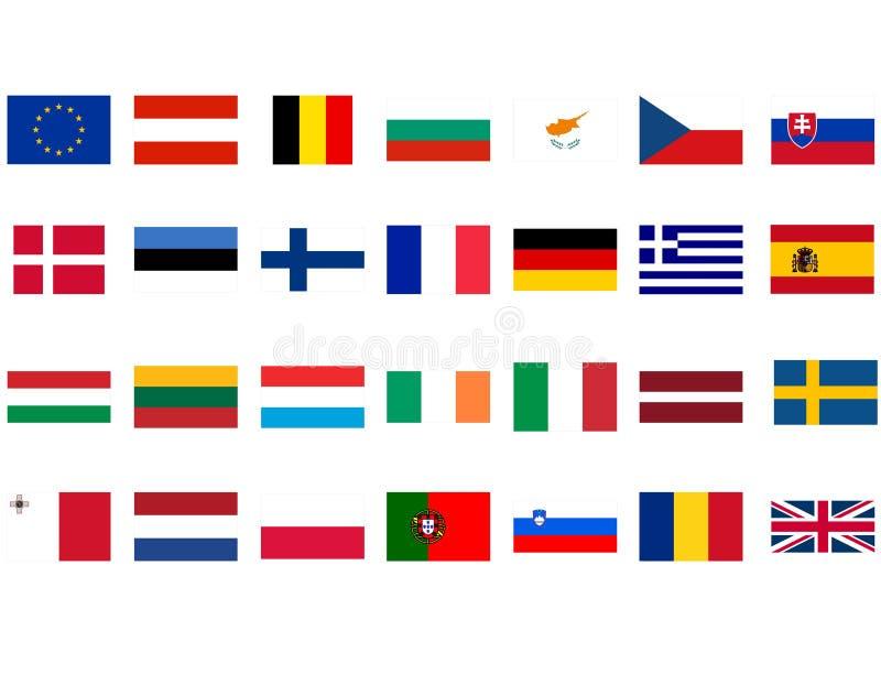 Europese vlaggen royalty-vrije illustratie