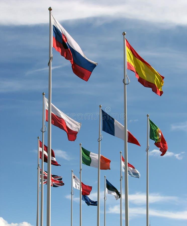 Europese vlaggen royalty-vrije stock fotografie