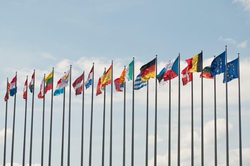 Europese Vlaggen stock afbeeldingen