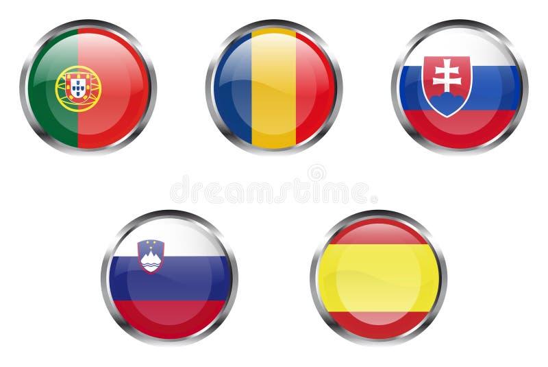 Europese vlagknopen - Deel 5 stock illustratie