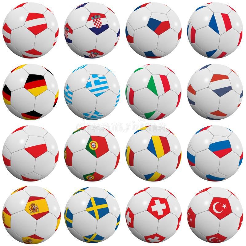 Europese voetbalballen vector illustratie