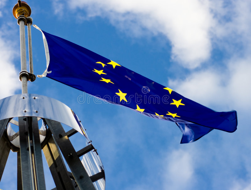 europian chorągwiany zjednoczenie fotografia royalty free