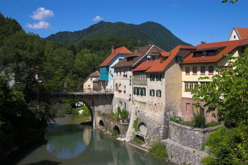 europien średniowiecznego miasteczko obraz stock