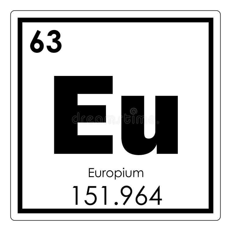 Europium chemical element royalty free illustration