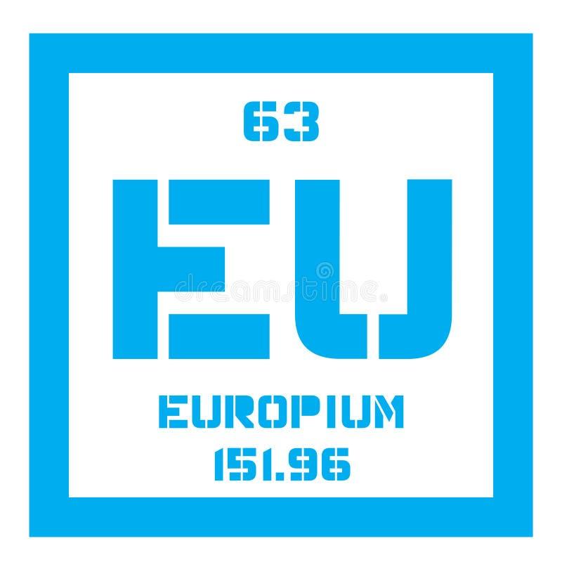 Europium chemisch element stock illustratie