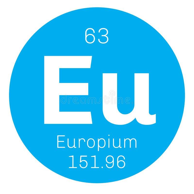 Europium chemisch element vector illustratie